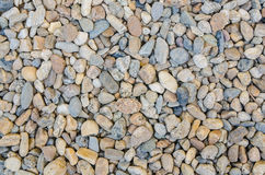 Abstract background with decorative floor pattern of gravel stones, Gravel colorful rock texture Royalty Free Stock Photography