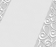 Abstract background with decorative vignettes lines. Vector. Illustration. Space for text.Gray on white Stock Photos