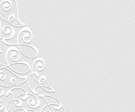 Abstract background with decorative vignettes lines. Vector illustration. Space for text.Gray white . Abstract background with decorative vignettes lines Royalty Free Stock Photos