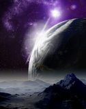 Abstract background of deep space. Royalty Free Stock Photo