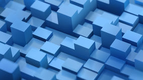 Abstract background of defocused cubes and parallelepipeds Royalty Free Stock Photo