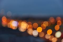 Abstract background with defocused lights Stock Photography