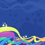 Abstract background for desig. Background for design with abstract forms of different colours stock illustration