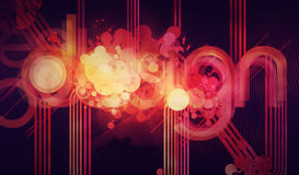Abstract background design. With colourful lines royalty free illustration
