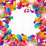 Abstract background for design. Abstract background with bright circles and teardrop-shaped arches. Illustration for your design Royalty Free Stock Images