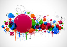 Abstract background design. Abstract colorful background design with paint splatter eps10 Stock Images