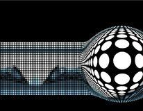 Abstract background design. Dynamic hi-tech abstract background design series stock illustration