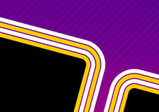 Abstract Background Design. An abstract illustrated background with design in bright yellow, purple, black and white colors Royalty Free Stock Image