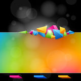 Abstract design in bright colors royalty free stock images
