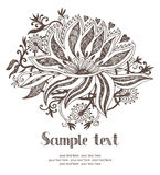 Abstract background design card. Floral motif Stock Photos