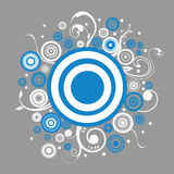 Abstract background. With design circles and swirls royalty free illustration