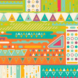 Abstract background design. With colorful geometric elements stock illustration