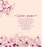 Abstract background design with decorative flowers. Abstract background design with flowers Vector Illustration