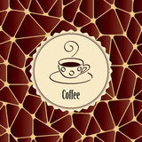 Abstract background with design element - cup of coffee. Royalty Free Stock Image