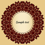 Abstract background with design element - mandala. Vector template packaging coffee, label, banner, branding. Abstract background with design element - mandala Stock Photography