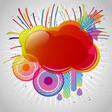 Abstract background with design elements. Cloud for your text Royalty Free Stock Image