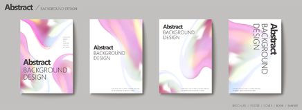 Abstract background design. Fluid colors set for design uses royalty free illustration