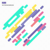Abstract background design graphic element rounded colorful. Vector royalty free illustration