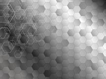 Abstract background design of hexagon Royalty Free Stock Photos