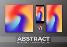 Abstract Background Design for Mobile Wallpaper and Other Design. Smart Phone Mockups Design. Vector Illustration Stock Photo