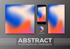 Abstract Background Design for Mobile Wallpaper and Other Design. Smart Phone Mockups Design. Vector Illustration Stock Images