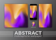 Abstract Background Design for Mobile Wallpaper and Other Design. Smart Phone Mockups Design. Vector Illustration Royalty Free Stock Photo