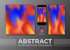 Abstract Background Design for Mobile Wallpaper and Other Design. Smart Phone Mockups Design. Vector Illustration Royalty Free Stock Images
