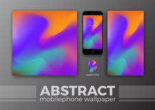 Abstract Background Design for Mobile Wallpaper and Other Design. Smart Phone Mockups Design. Vector Illustration Stock Image