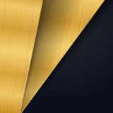 Abstract background design modern with gold brushed metal textur. E. illustration Royalty Free Illustration