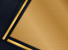 Abstract background design modern with gold brushed metal texture. Illustration Royalty Free Illustration