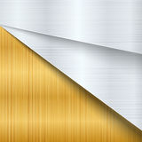 Abstract background design modern with gold , metal brushed meta Royalty Free Stock Image
