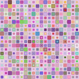 Abstract background for design. Abstract mosaic background of colored squares with rounded corners for design.  multicolor gamma. Vector Stock Photos