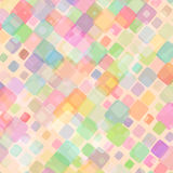 Abstract background for design. Abstract mosaic background of colored squares with rounded corners for design. multicolor pastel gamma. Vector Royalty Free Stock Image