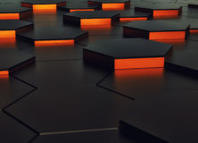 Abstract background design orange and black. 3d render. Ing stock illustration