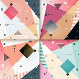 Abstract background design. Abstract background pattern design set with colorful geometric elements royalty free illustration