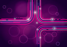 Abstract Background Design. A pink and purple abstract background design with lines Stock Images