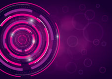 Abstract Background Design. A pink and purple abstract background design with a technical theme Vector Illustration
