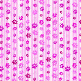 Abstract background for desktop with pink cat footprints or traces Stock Photography