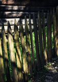 Detail of an old wooden fence. Abstract background Detail of an old wooden fence Stock Photography