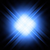 Diagonal blue and white rays on black Royalty Free Stock Photography