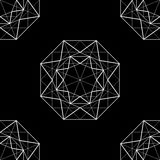 Abstract background with diamond. Black abstract background with  abstract  diamond. vector Stock Photography