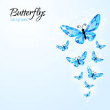 Abstract background with diamond butteflies Royalty Free Stock Photo