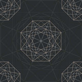 Abstract background with diamond. Gray abstract background with  abstract  diamond. vector Stock Photography