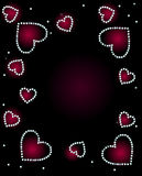 Abstract Background With Diamond Hearts Royalty Free Stock Images