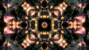 Abstract background with diamond kaleidoscope. 3d rendering stock video footage
