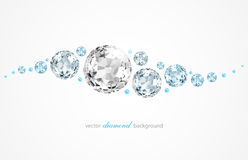 Abstract background with diamonds and pearls Royalty Free Stock Images