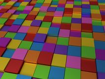 Abstract background - different color cubes Royalty Free Stock Photos