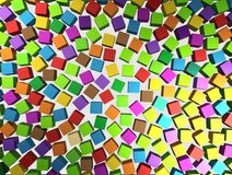 Abstract background - different color cubes Royalty Free Stock Photo