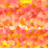 Abstract background of different color triangles. Vector illustration Stock Photography