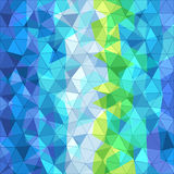 Abstract background of different color triangles. Vector illustration Stock Image